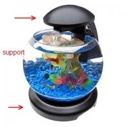 Support Tetra cascade globe noir