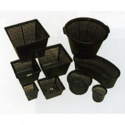 Paniers carré en plastique 19cm, 9cm de hauteur