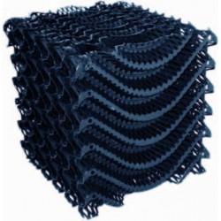 nid d'abeille noir 120 x 30 x 30 cm